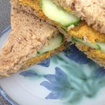 Hummus & Grated Carrot Sandwich, 9p a serving