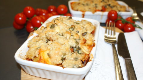 vegetable crumble for a budget dinner