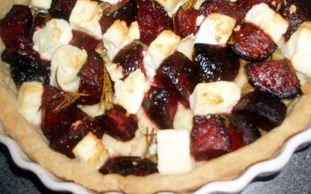 beetroot and feta tart