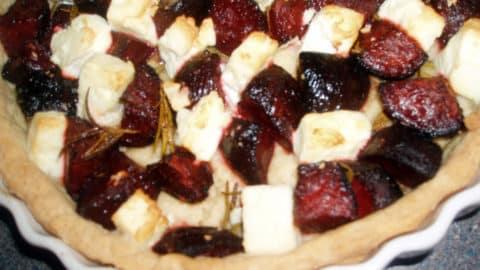 beetroot and feta tart