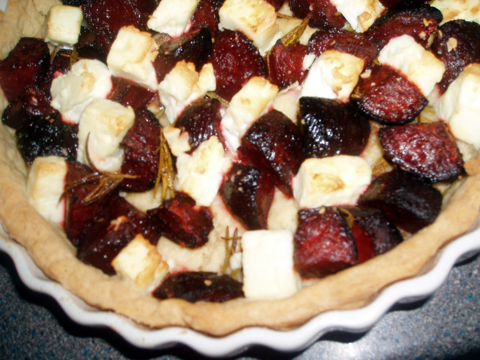 beetroot and feta tart 2