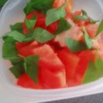 tomatoes and basil for panzanella