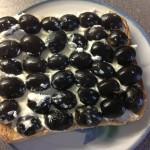 Olives on a slice