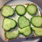 Cucumber on a slice