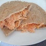 Pitta with Carrot, Lemon & Soft Cheese, 20p