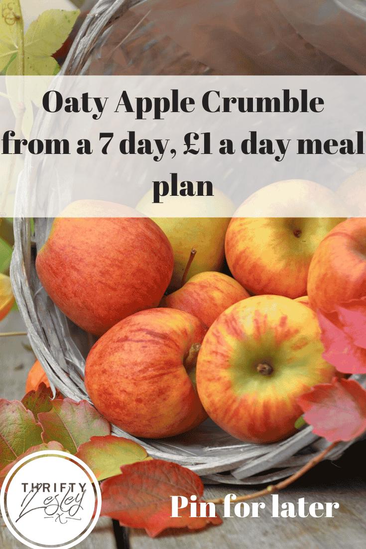 oaty apple crumble
