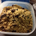 Granola, 8p a serving, 14p including the milk
