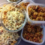 12 portions of minced beef pasta bake, 34p each