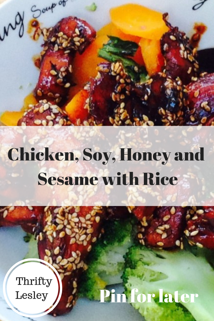 Chicken, Soy, Honey and Sesame with Rice