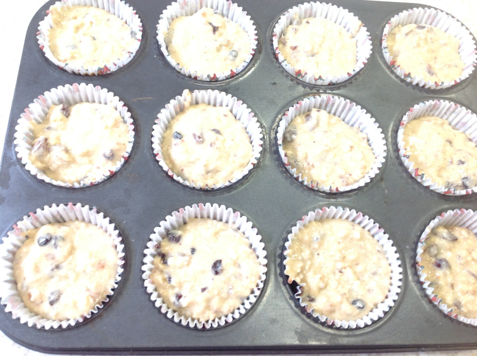 muffins, uncooked