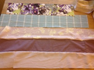 fabric strips for a patchwork quilt