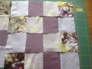 patchwork fabric squares
