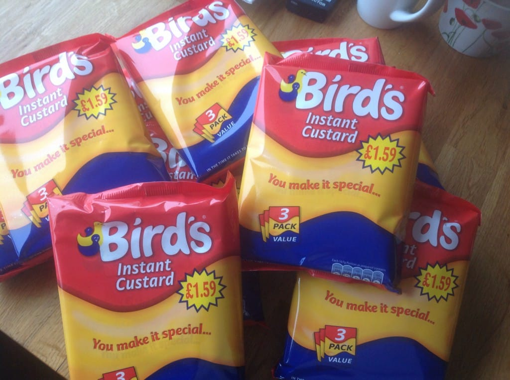 sachets of Birds custard