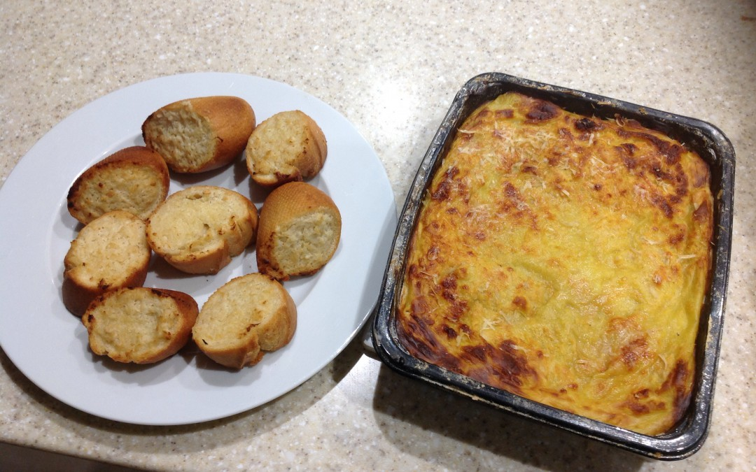 Christmas Meal Plan Leftovers – Pork, Apple & Stuffing Lasagna, 26p a portion