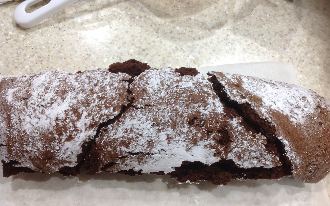 An outstanding chocolate roulade, 35p a slice