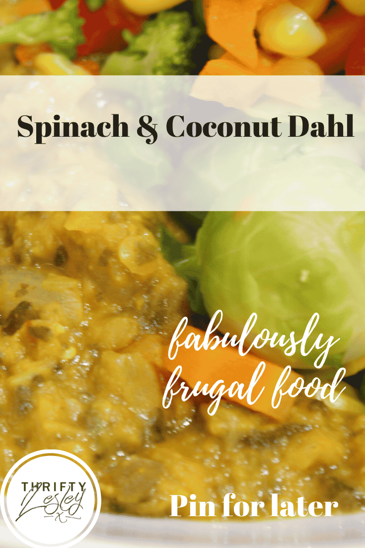 spinach and coconut dahl