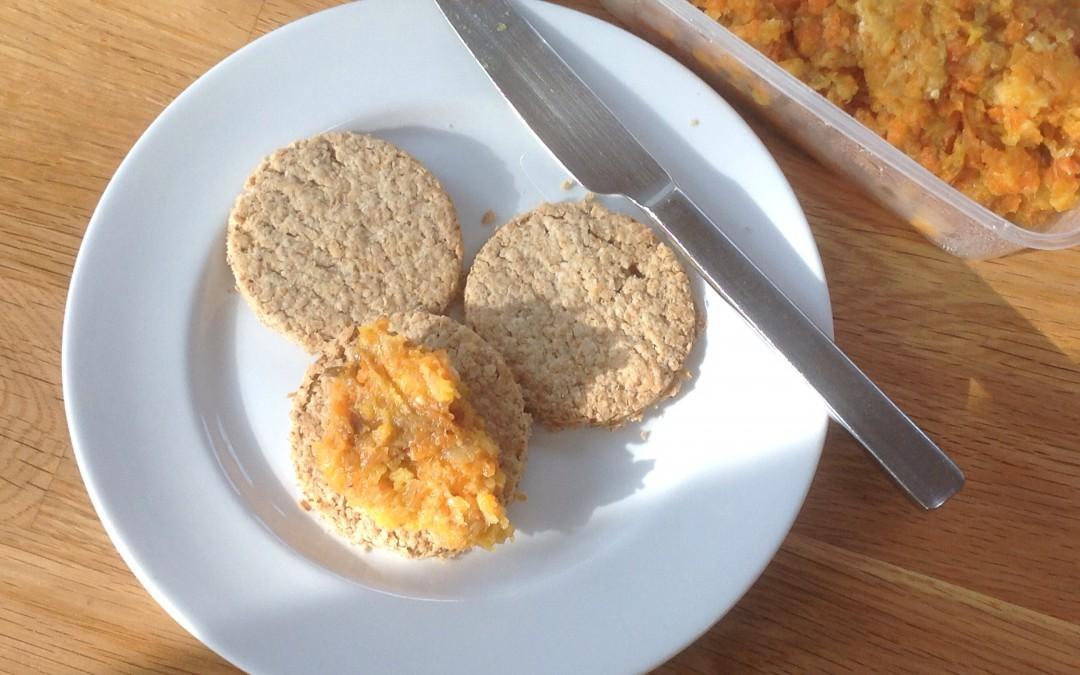 Bannocks and roasted veg hummus