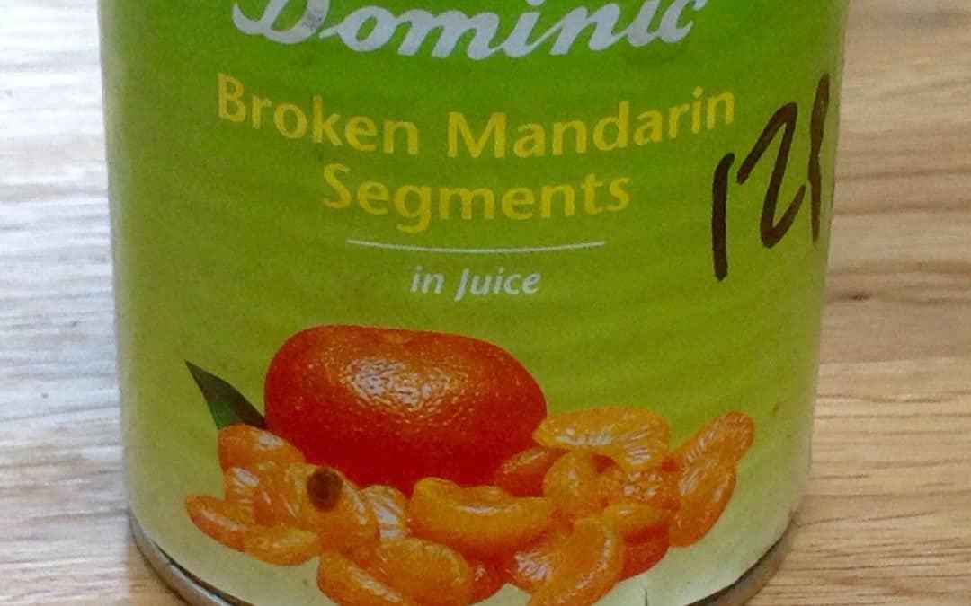 Another successful experiment. Mandarin ice cream, 17p