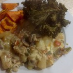 Spanish Omelette 46p, we had ours with sweet potato chips and kale crisps