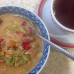 Christmas Leftovers – part 1. Soup, a Turkey & Cranberry Toast Topper, a Cheesy Tart