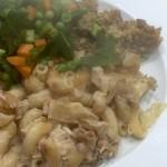 Rubber Chicken (5) – Chicken & Onion Pasta Bake 42p