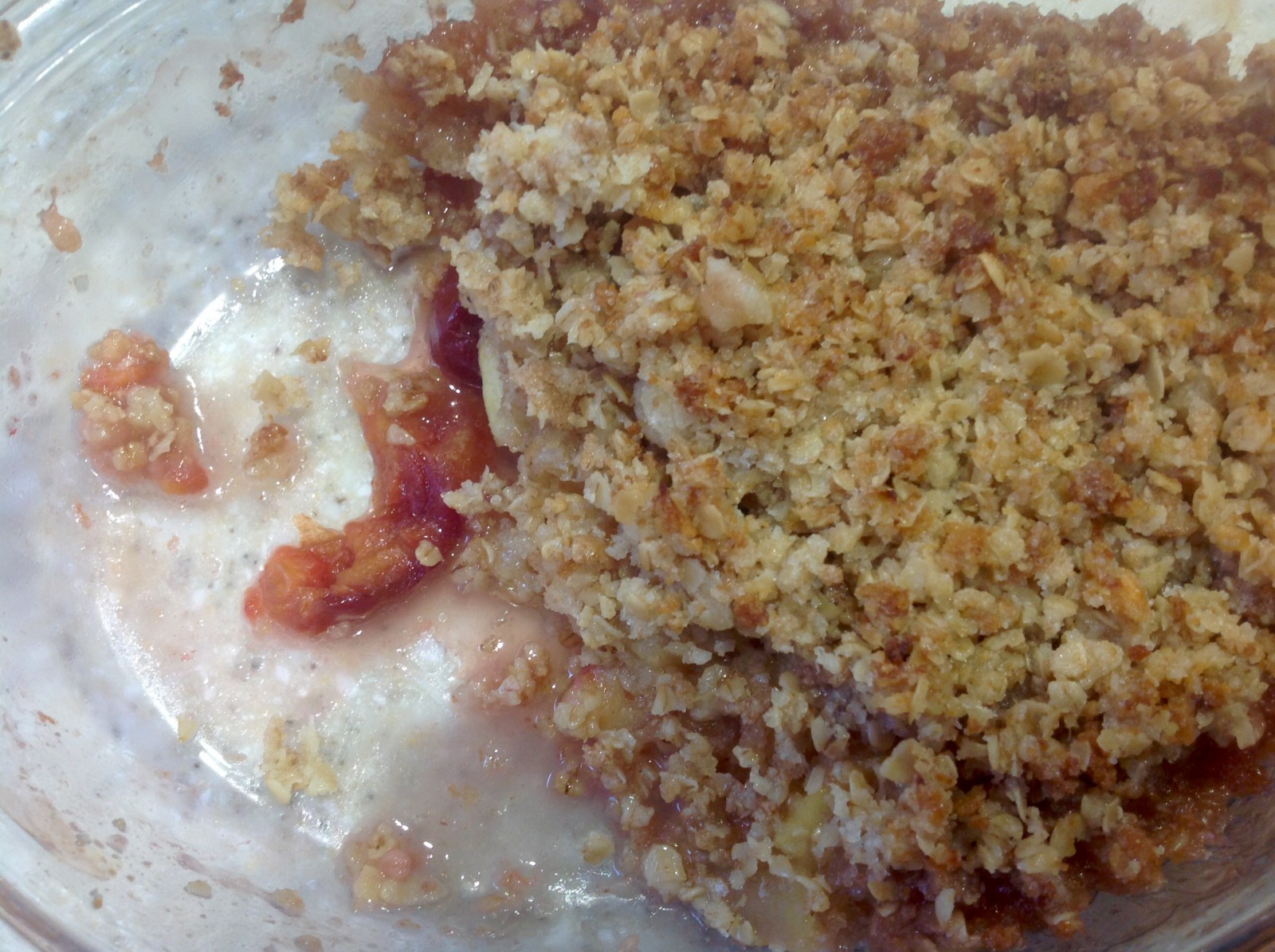 Breadcrumb topped crumble