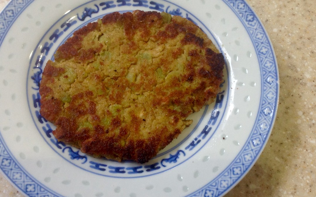 A kitchen experiment, Pea-Crumb Fritters, 6p