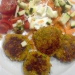 Raw chickpea carrot falafel, 15p. Delicious, with sweet variations too