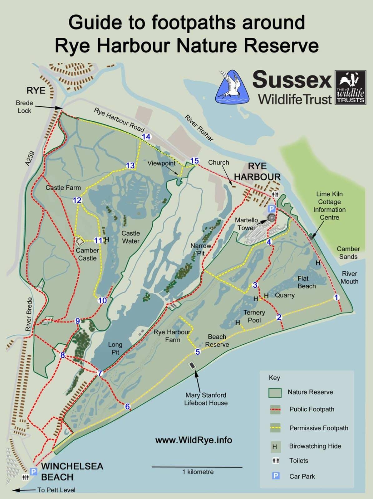Map of walks in Rye