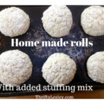 Home made bread rolls with added stuffing mix