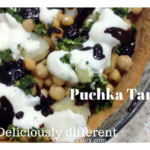 Puchka tart. What's that? Complete deliciousness on a plate, that's what