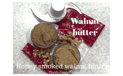 Home made honey smoked walnut butter. Easy, cheap, versatile and super delicious