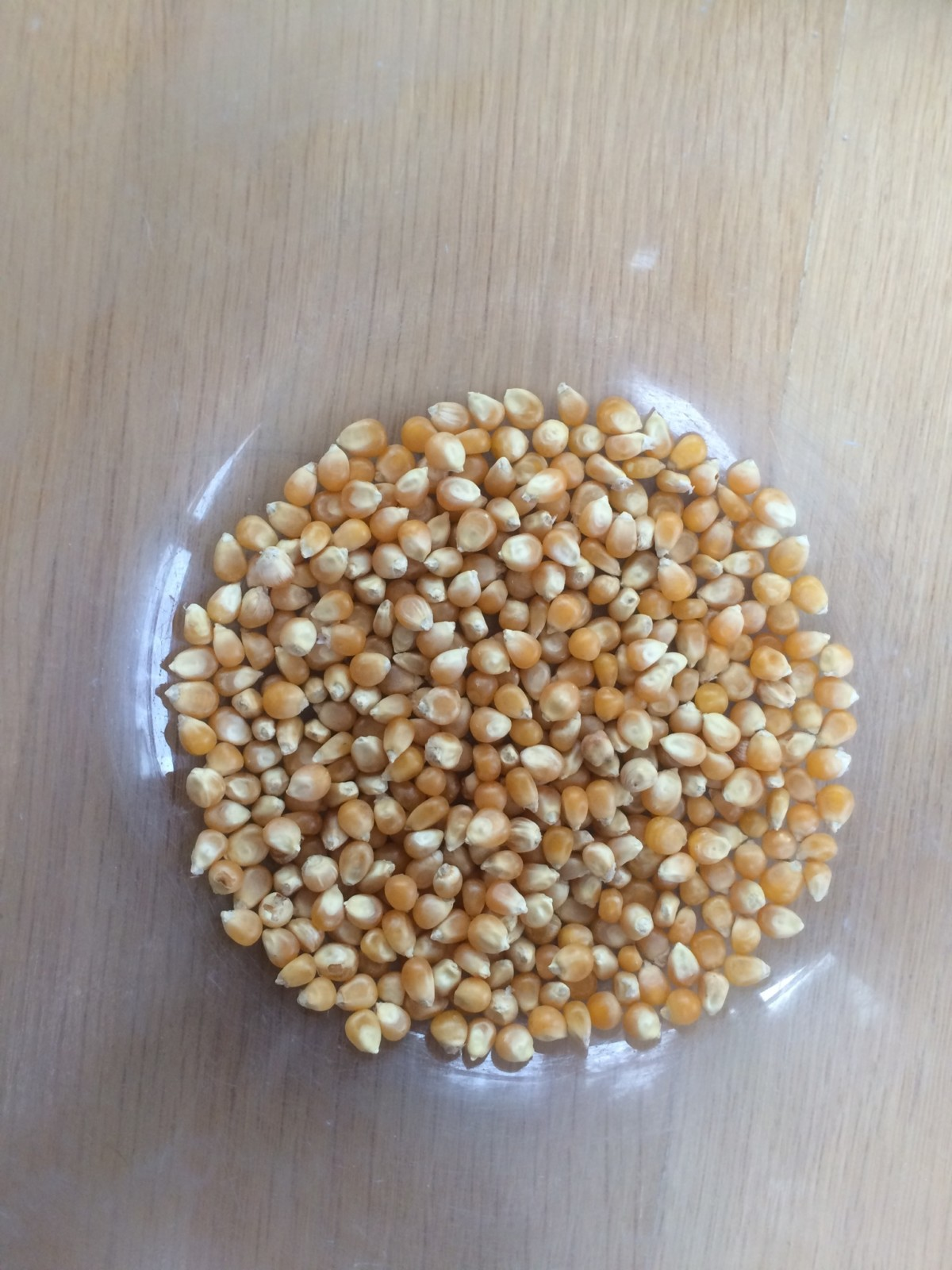 Raw popcorn