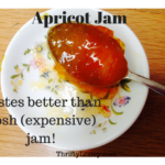 Home made apricot jam. Fresh and wonderful, and better than even the poshest versions you can buy!