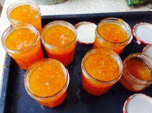 home made apricot jam