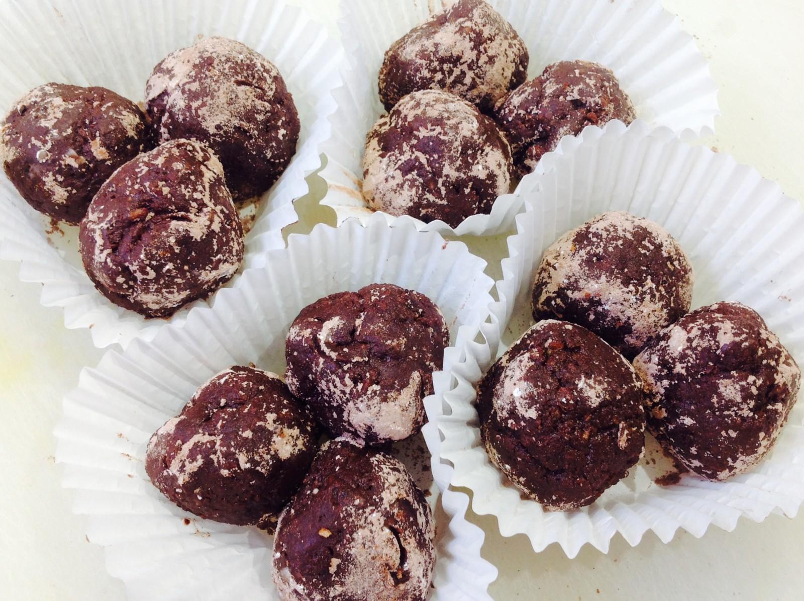 Walnut Nutella wheat bisks bites