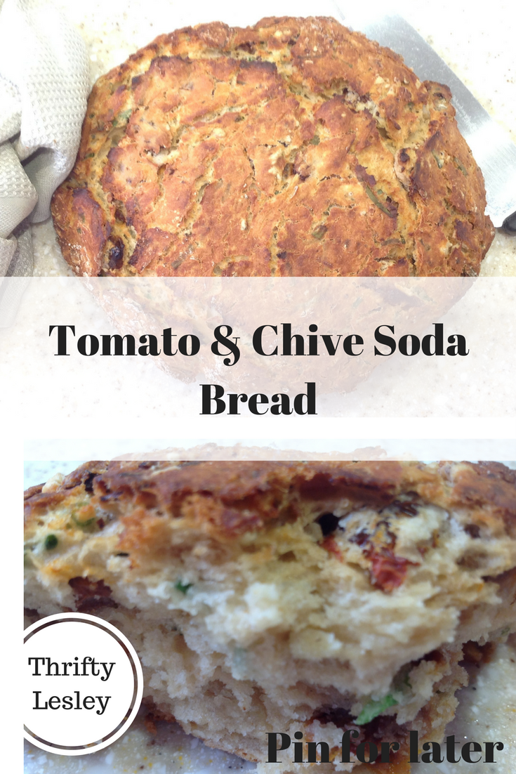 Tomato and chive soda bread
