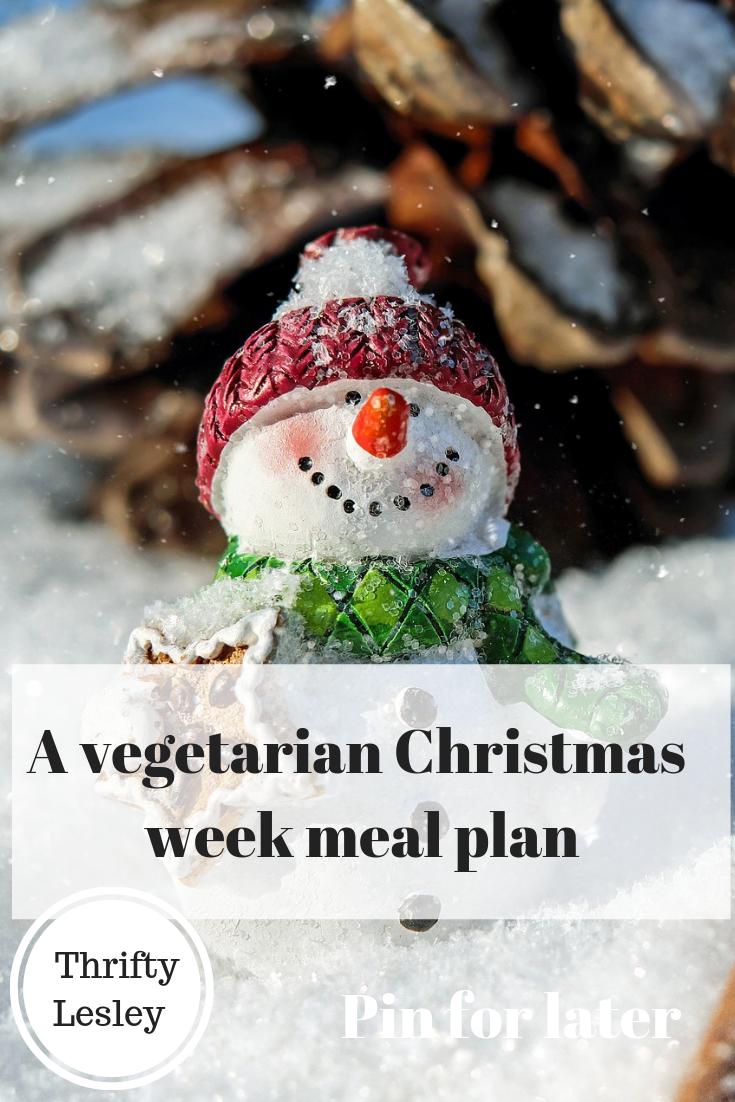 A Vegetarian Christmas week meal plan
