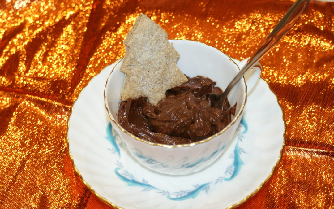 Vegetarian Christmas – Spiced Pot au Chocolat with a Spiced Biscuit