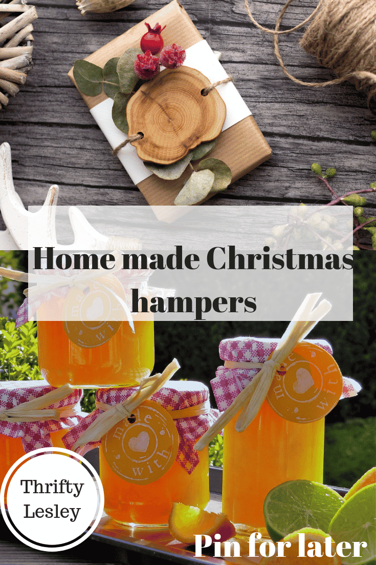 Homemade Christmas hampers