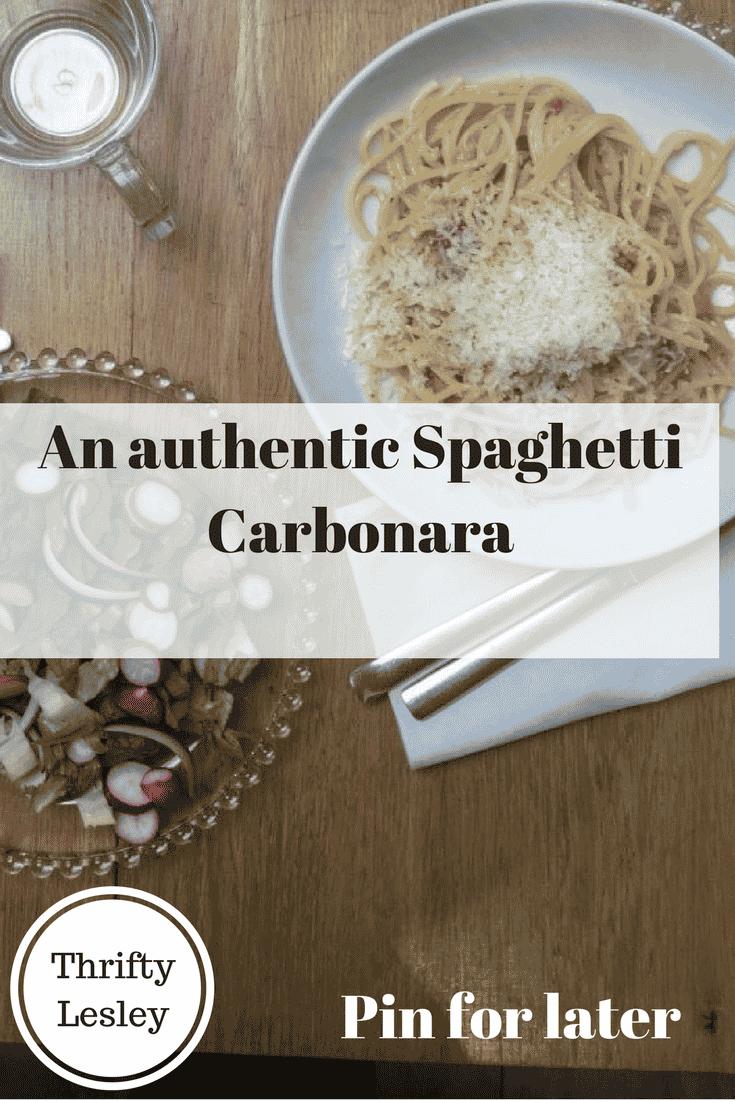 Spaghetti carbonara sauce recipe