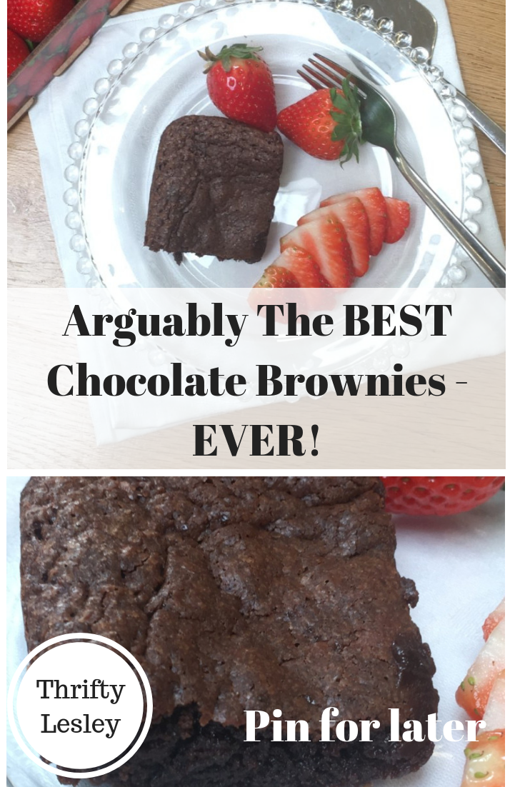 This very simple chocolate brownie recipe makes the best chocolate brownies!