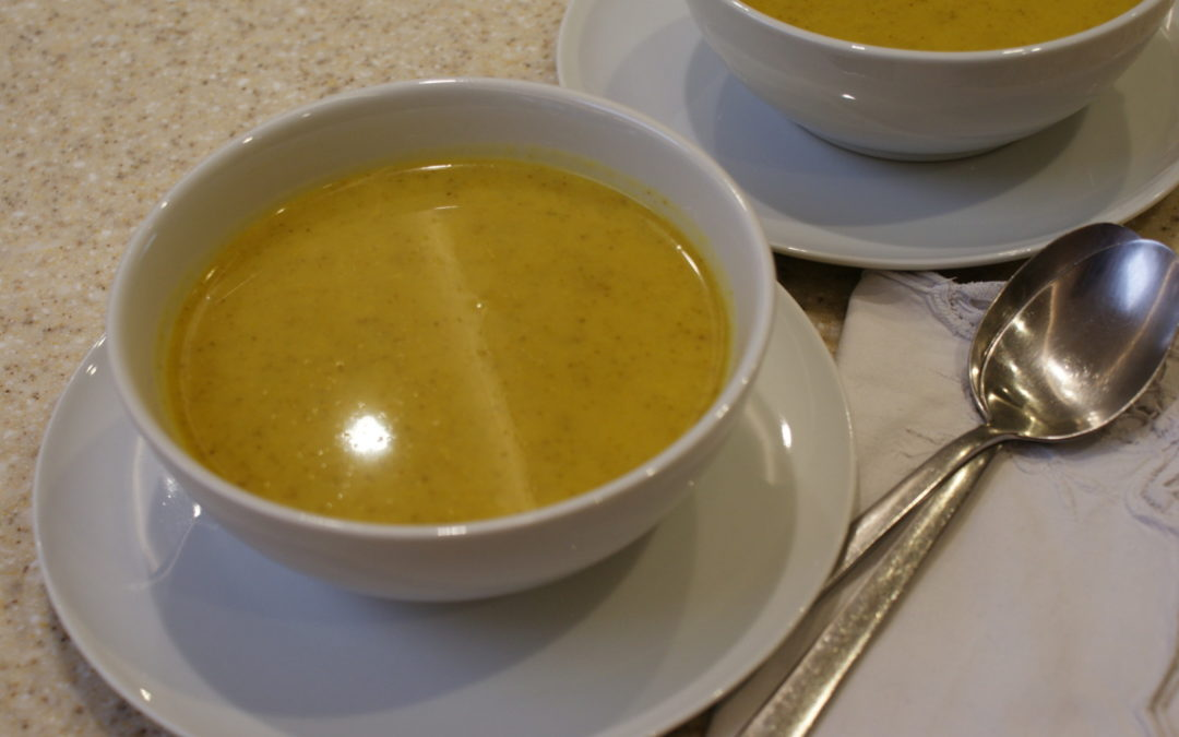 Spiced Broccoli Soup. Delicious with tomato scone or herb bread