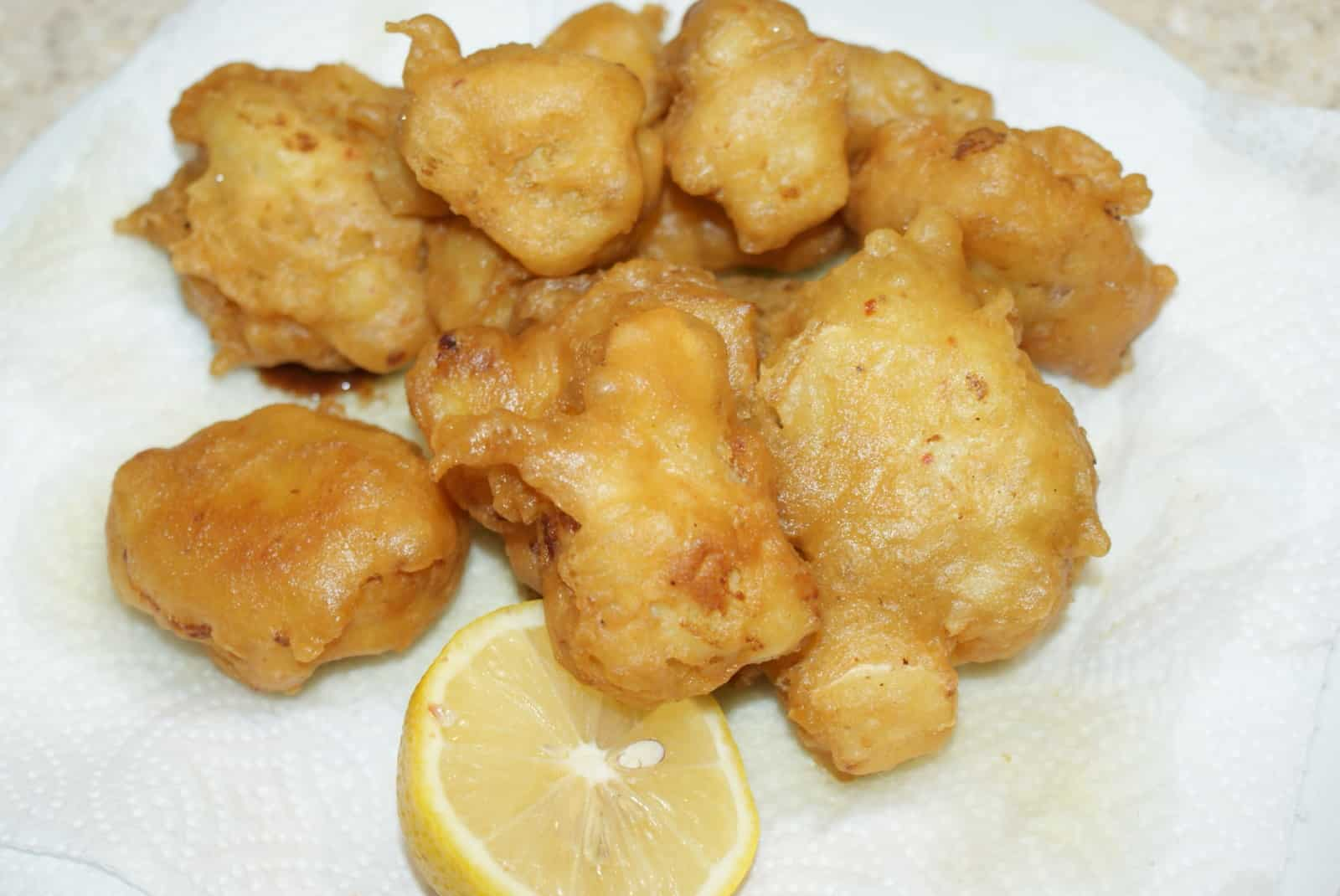 Cauliflower fritters a traditional Greek recipe