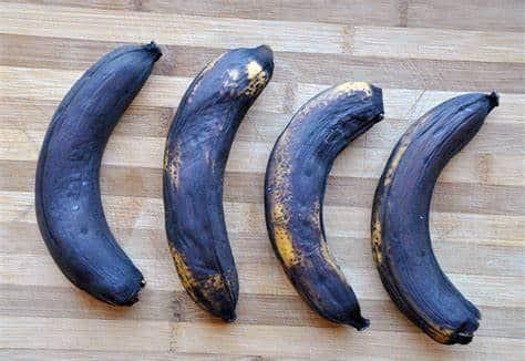 over ripe bananas