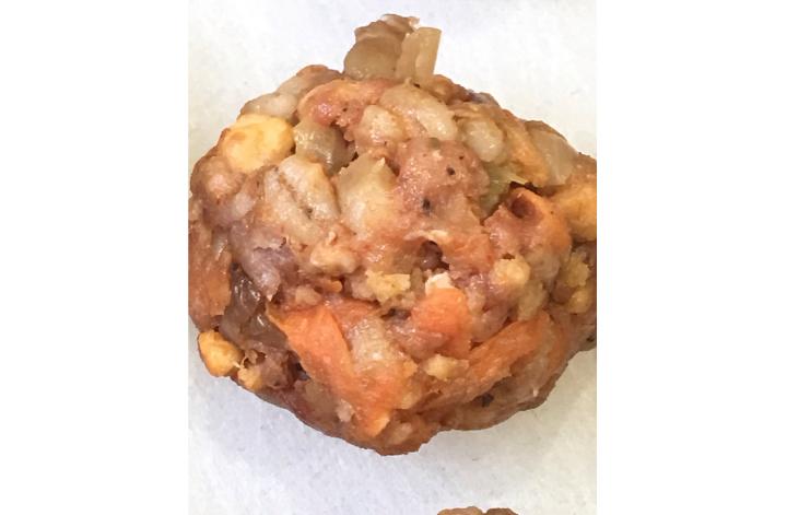 uncooked pork meatballs