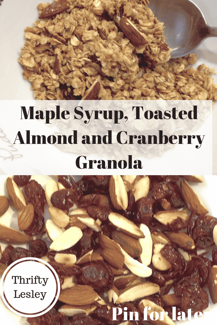 maple syrup, toasted almond granola