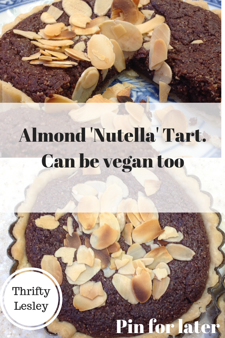 Almond Nutella tart