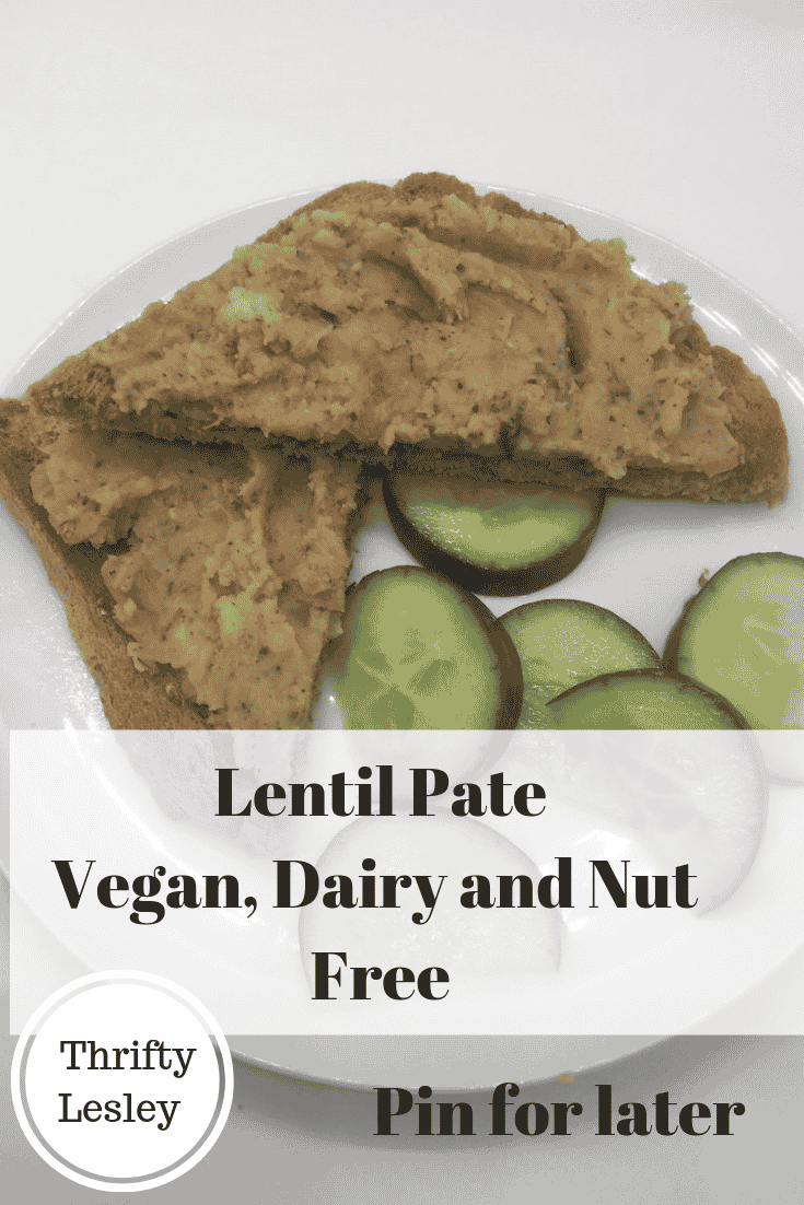 Lentil pate for an extremely cheap meal