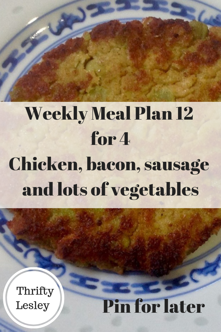 Weekly Meal Plan 12 for budget meals